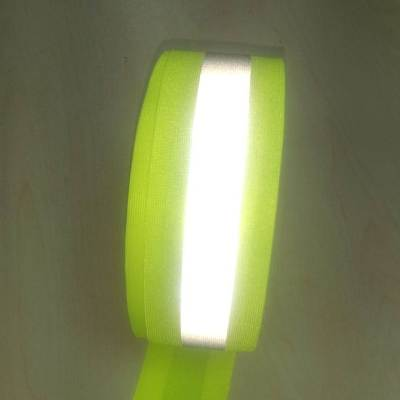 Yellow Fabric Based Reflective Strip