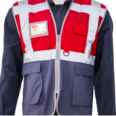 Red Navy Safety Jacket