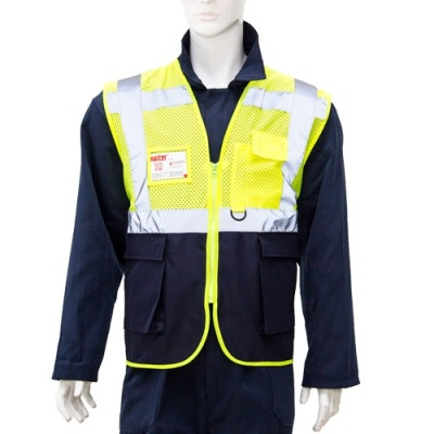 Yellow-Navy Safety Jacket